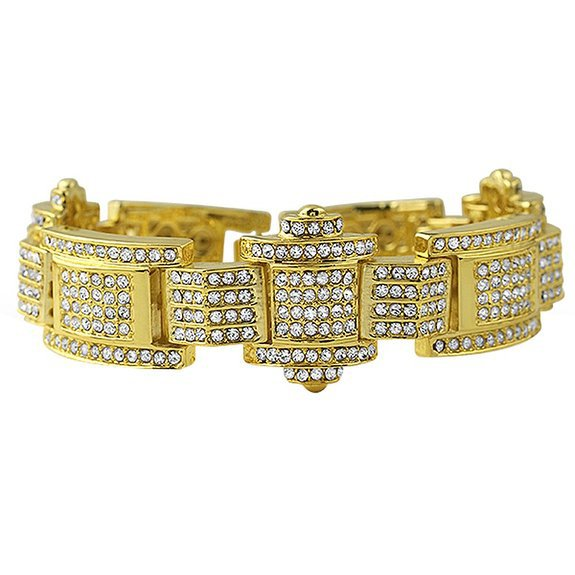 The Don Iced Out Bracelet, Gold