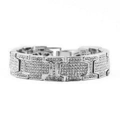 18K White Gold Diamond King Bracelet