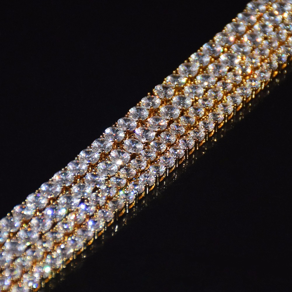 18K Gold 3-6mm Tennis Chain