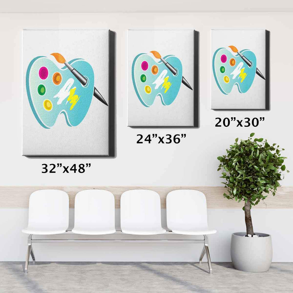 Dental Office Canvas Wall Art 20x30 24x36 32x48