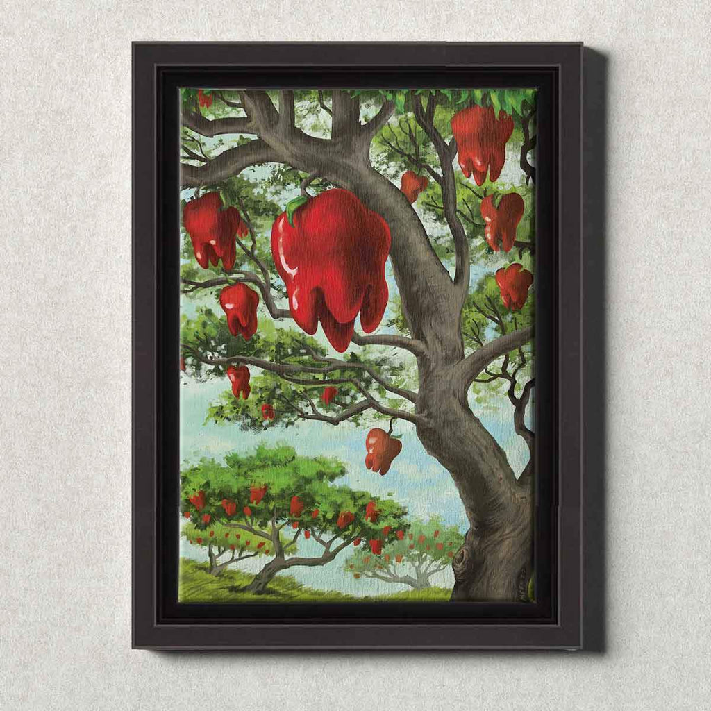 Dental Office Canvas Wall Art Framed An Apple A Day