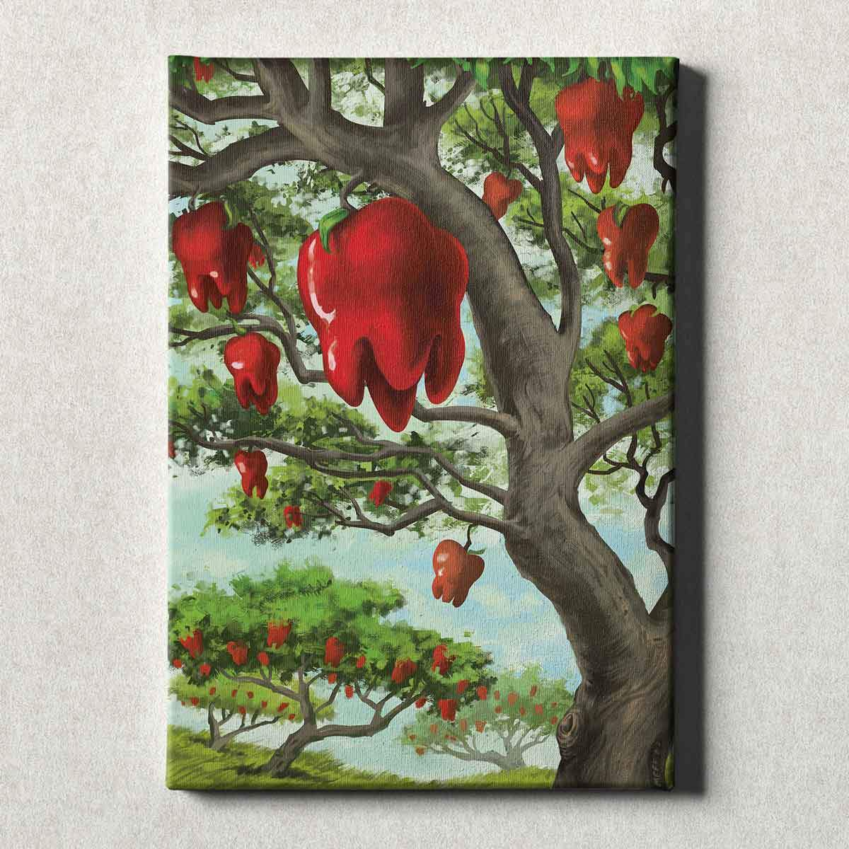 Dental Office Canvas Wall Art Gallery Wrapped An Apple A Day