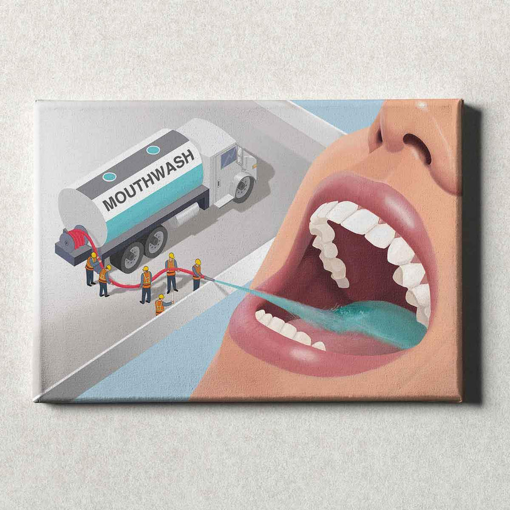 Dental Office Canvas Wall Art Gallery Wrapped Team Fresh