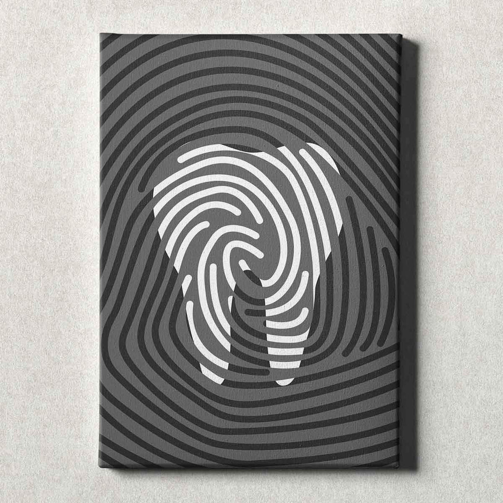Dental Office Canvas Wall Art Gallery Wrapped Tooth Print Gray