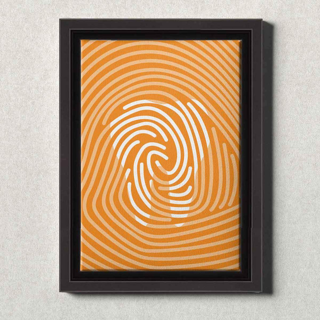 Dental Office Canvas Wall Art Framed Tooth Print Orange
