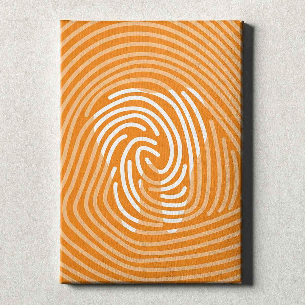 Dental Office Canvas Wall Art Gallery Wrapped Tooth Print Orange