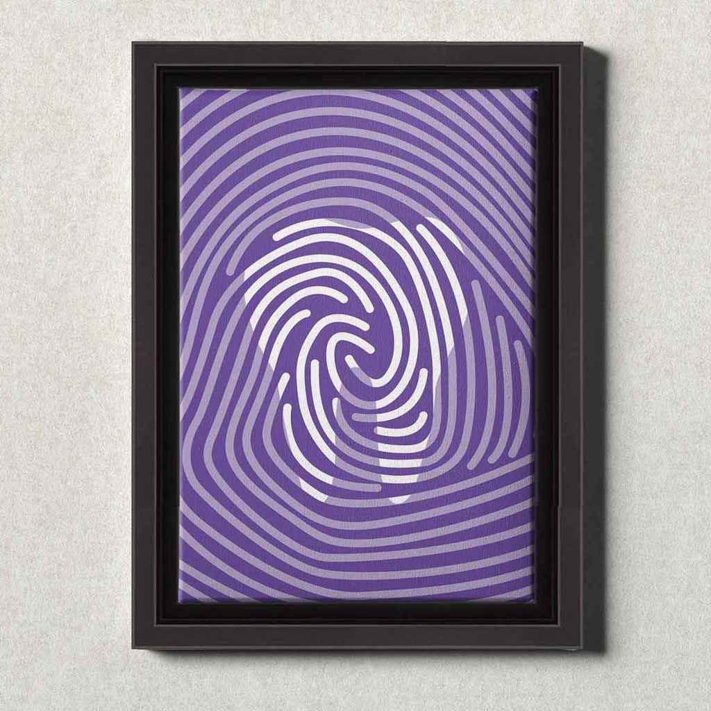Dental Office Canvas Wall Art Framed Tooth Print Purple
