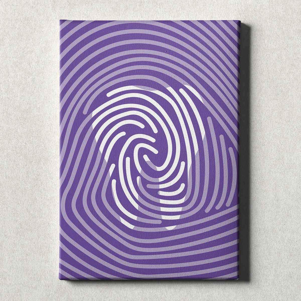Dental Office Canvas Wall Art Gallery Wrapped Tooth Print Purple