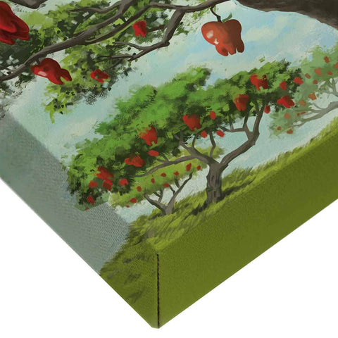 Image of Dental Office Canvas Wall Art Gallery Wrapped Corner An Apple A Day