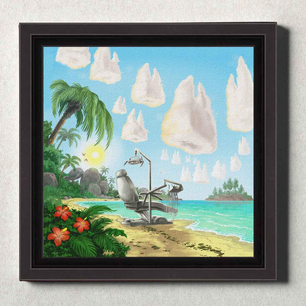 Dental Office Canvas Wall Art Framed Dental Beach
