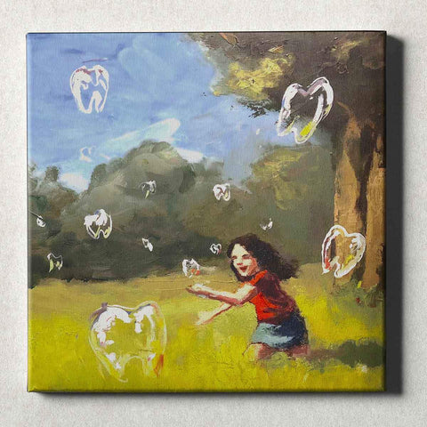 Image of Dental Office Canvas Wall Art Gallery Wrapped Dental Bubbles 2