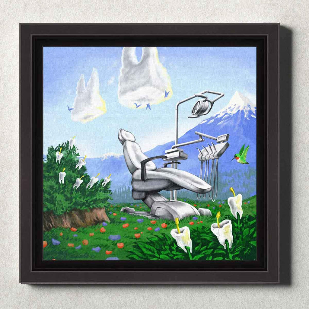 Dental Office Canvas Wall Art Framed Dental Mountain
