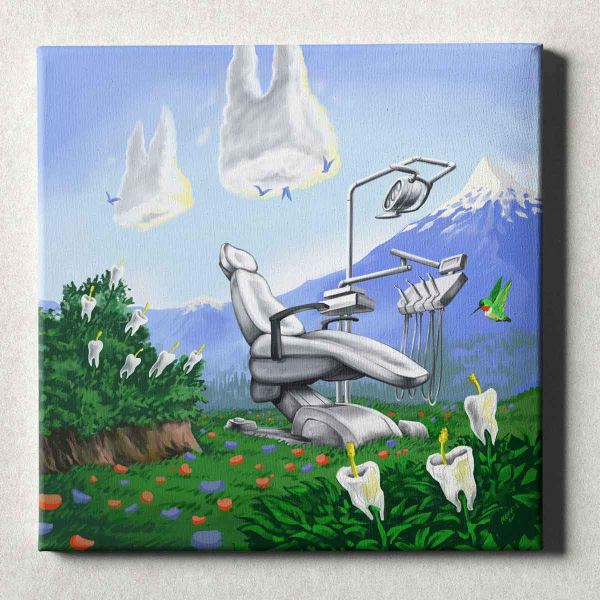 Dental Office Canvas Wall Art Gallery Wrapped Dental Mountain