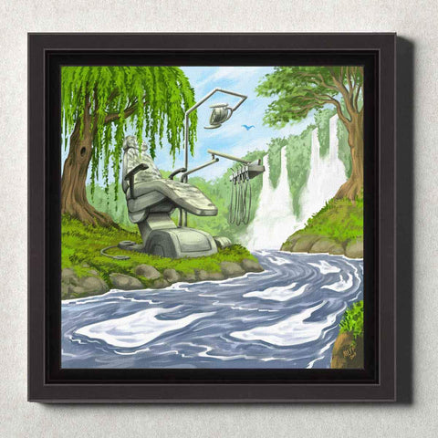 Dental Office Canvas Wall Art Framed Dental River