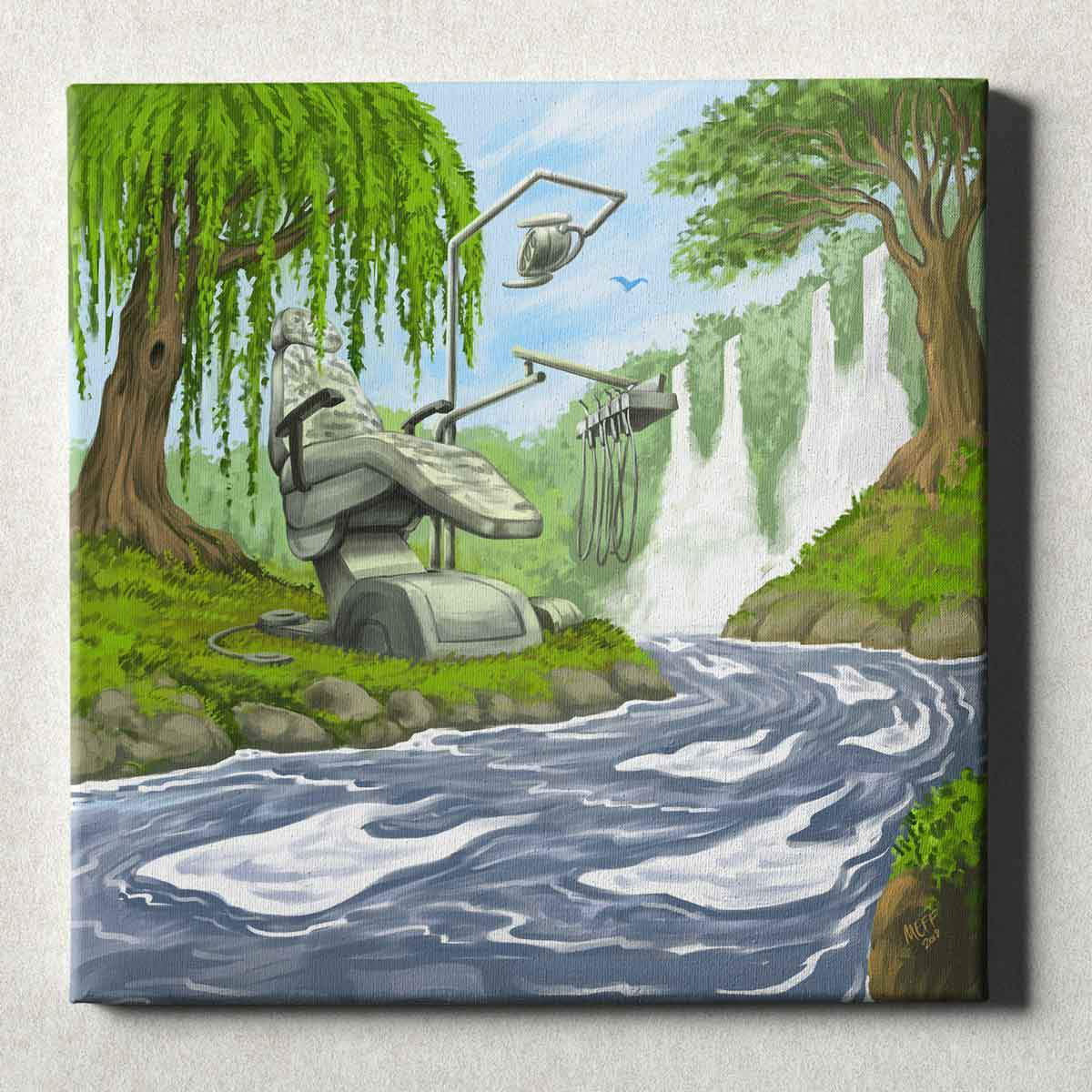 Dental Office Canvas Wall Art Gallery Wrapped Dental River