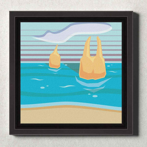 Image of Dental Office Canvas Wall Framed Molar Beach