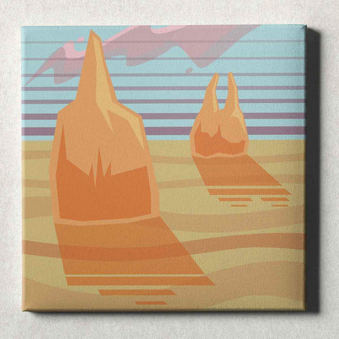Image of Dental Office Canvas Wall Gallery Wrapped Molar Desert