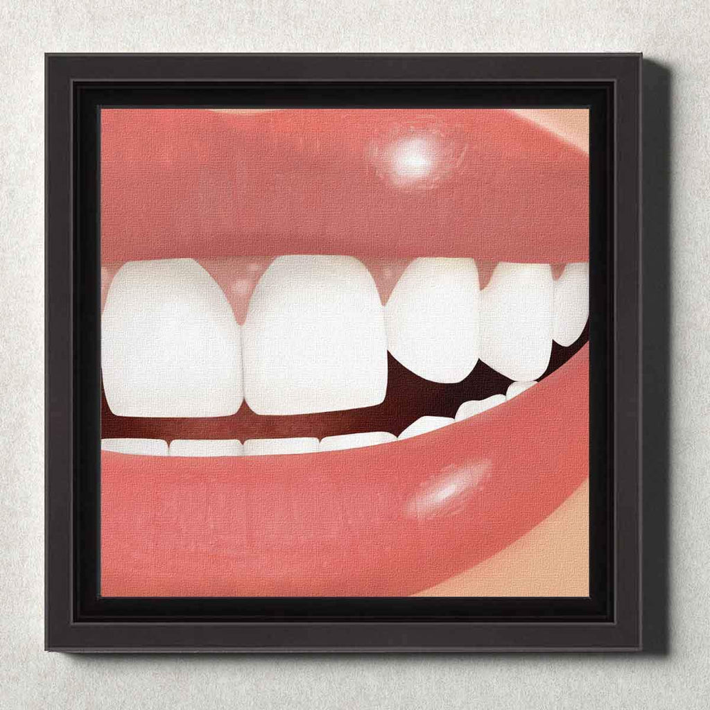 Dental Office Canvas Wall Art Framed Perfect Smile