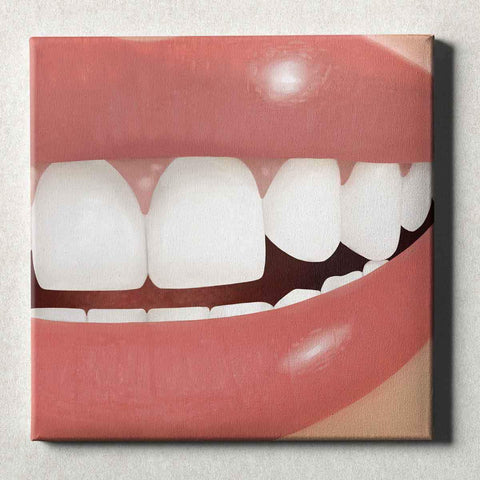Image of Dental Office Canvas Wall Art Gallery Wrapped Perfect Smile