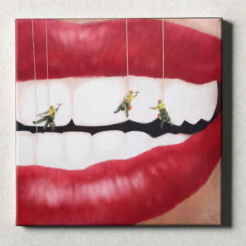 Image of Dental Office Canvas Wall Art Gallery Wrapped Teeth Cleaners