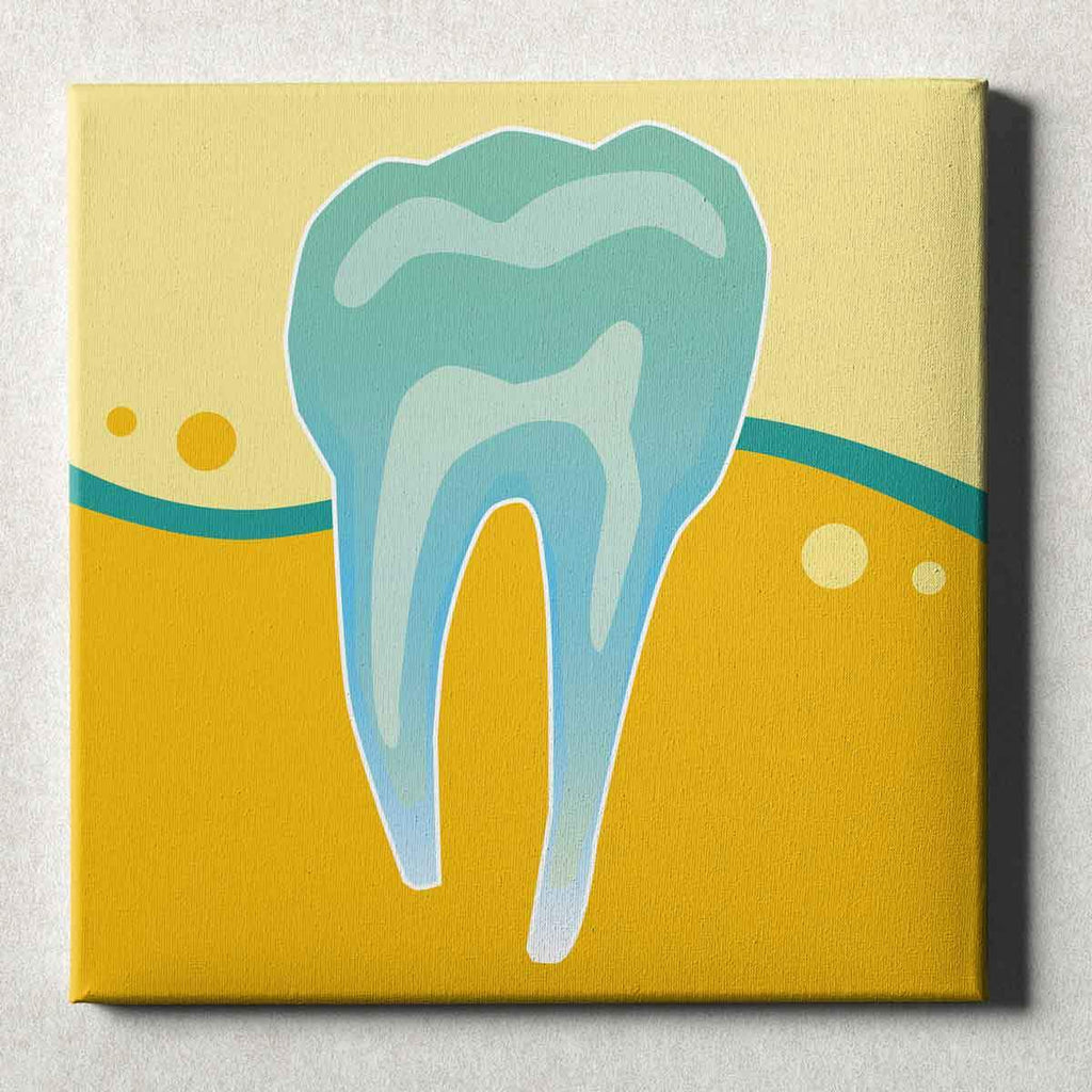 Art for Dentists - Tooth X-Ray - Canvas Office Wall Art