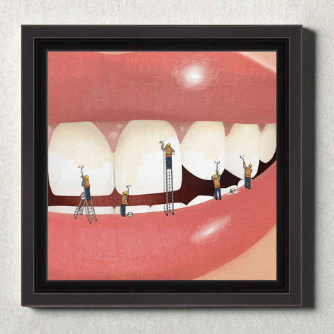 Image of Dental Office Canvas Wall Art Framed Whiter and Brighter