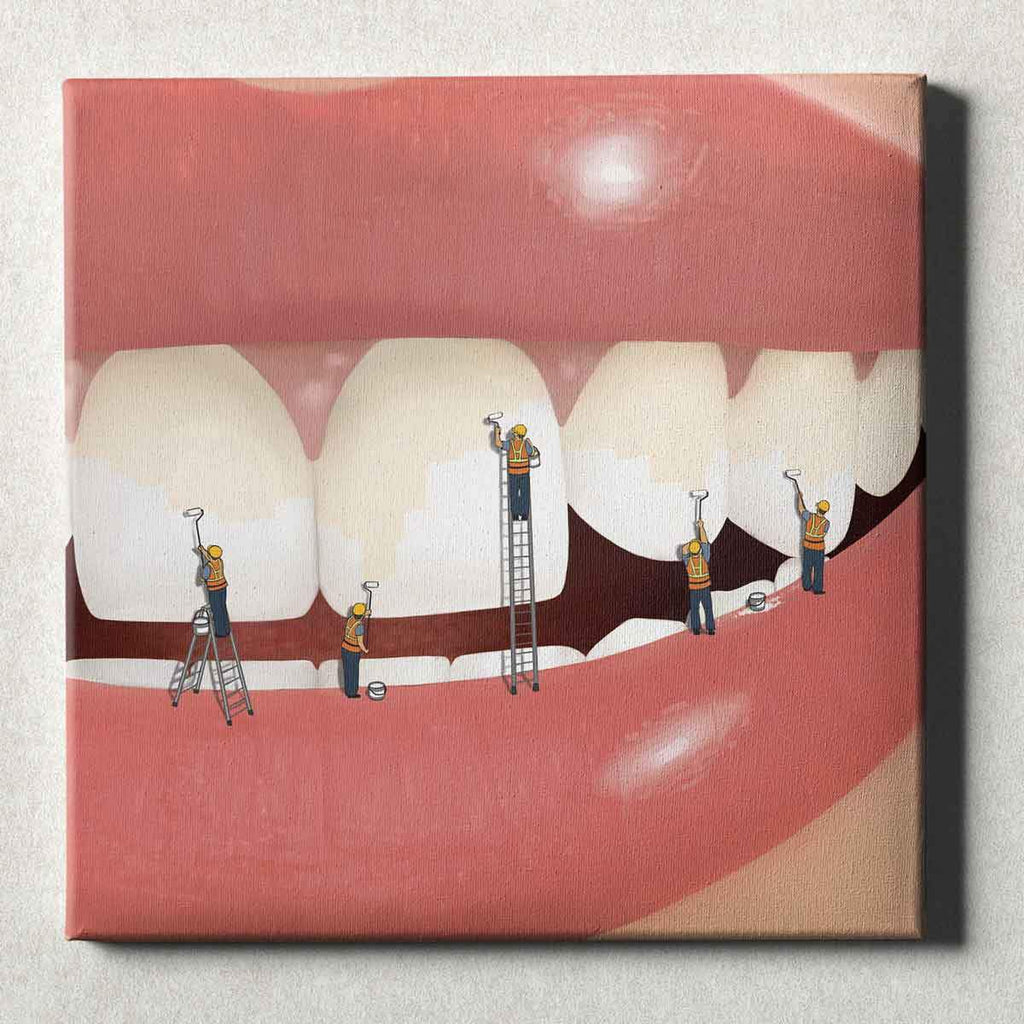 Dental Office Canvas Wall Art Gallery Wrapped Whiter and Brighter