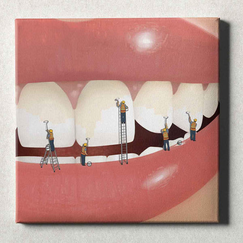 Image of Dental Office Canvas Wall Art Gallery Wrapped Whiter and Brighter