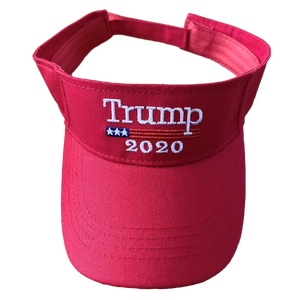 Red Trump 2020 Visor - I Love My Freedom