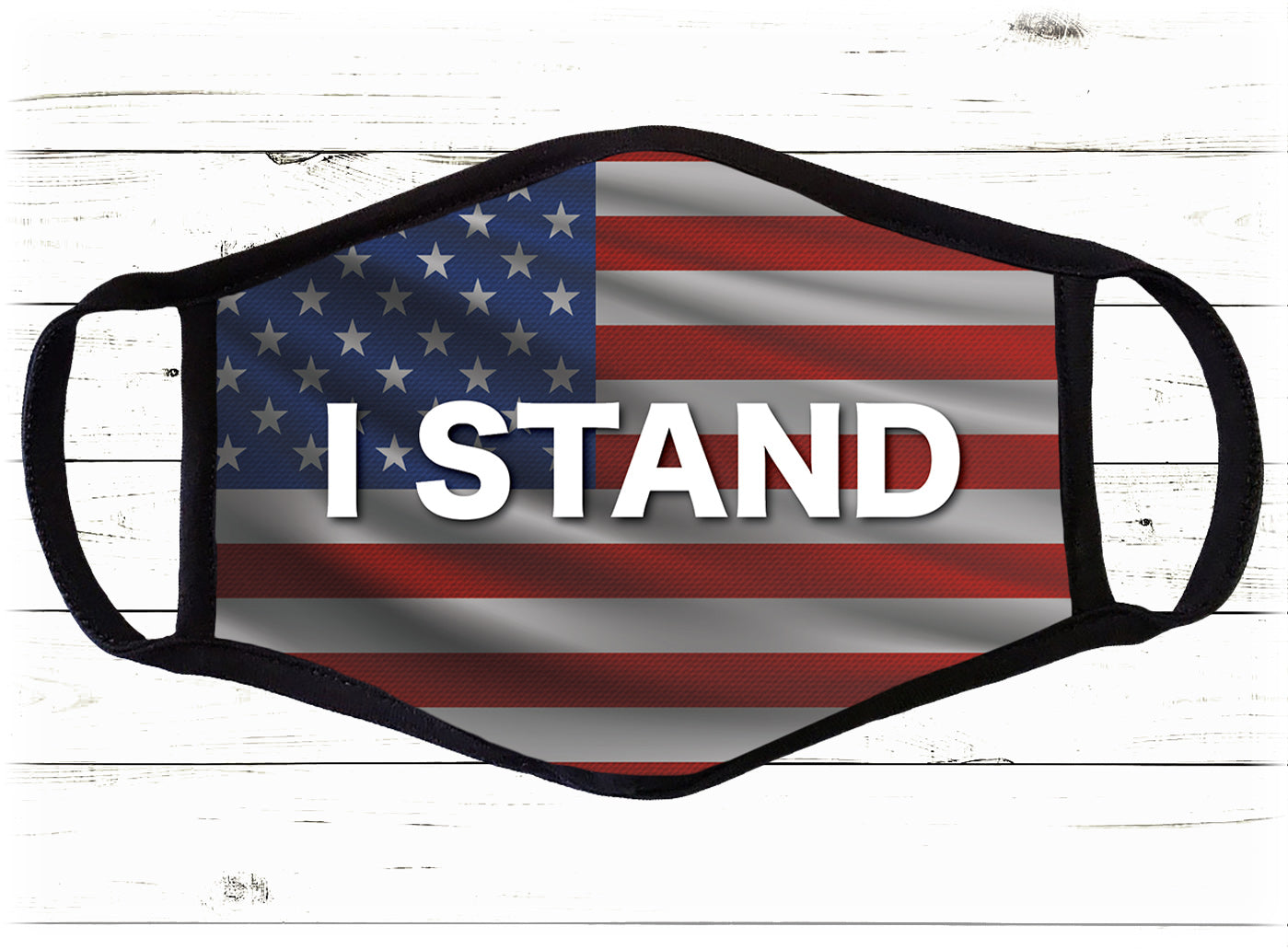 I STAND Face Cover - I Love My Freedom
