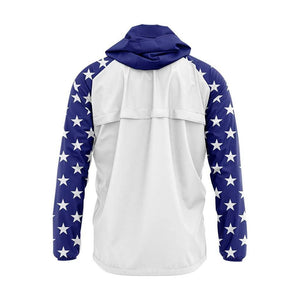 USA Flag Rain Jacket - Greater Half