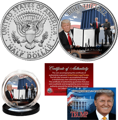 Build The Wall JFK Half Dollar