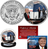 Build The Wall JFK Half Dollar - I Love My Freedom