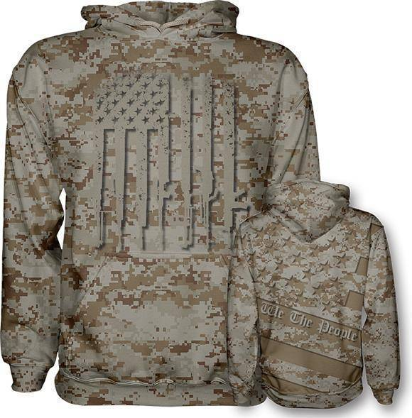 Desert Digi We The People Hoodie - I Love My Freedom