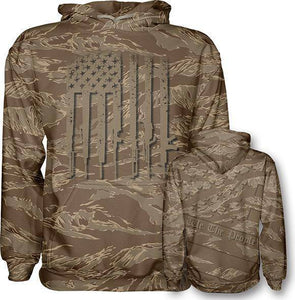 Desert Tiger We The People Hoodie - I Love My Freedom