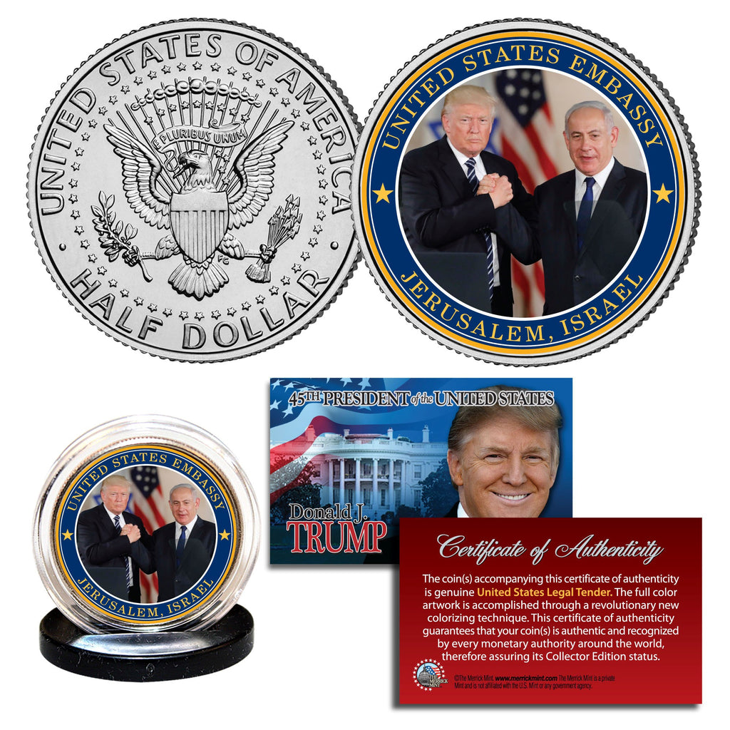 Donald Trump Israel Coin - I Love My Freedom