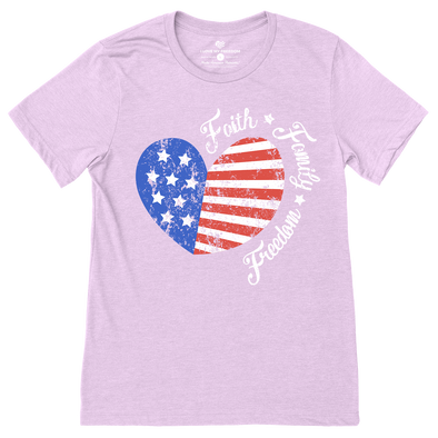 Faith Family Freedom Heart T-Shirt