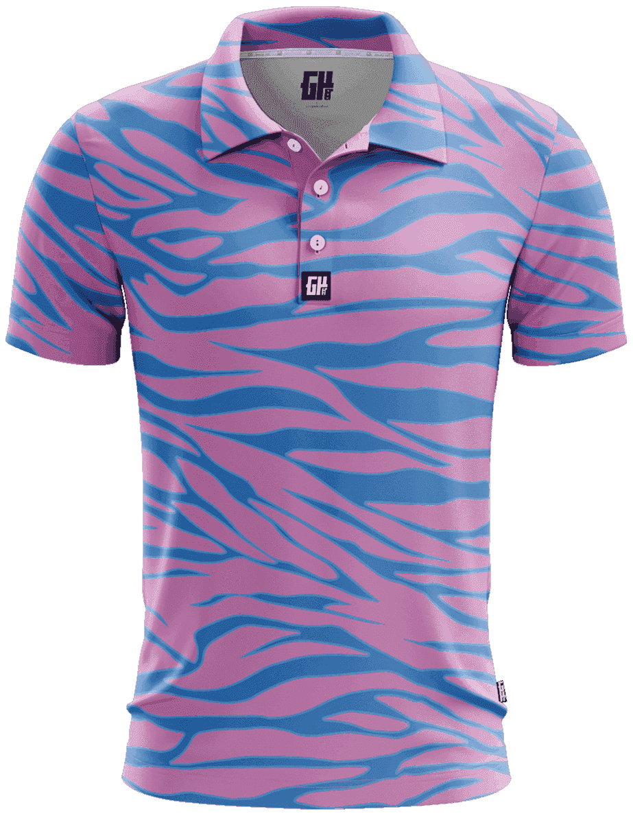 Trippin Zebra Golf Polo - Greater Half
