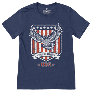The Freedom Eagle T-Shirt - I Love My Freedom