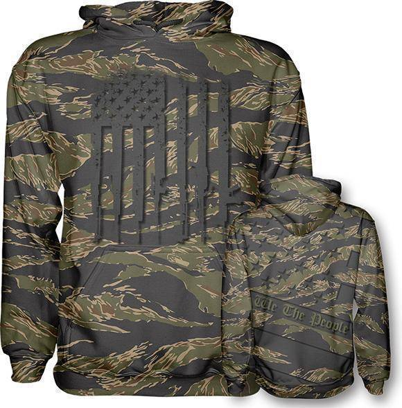 Jungle Tiger We The People Hoodie - I Love My Freedom