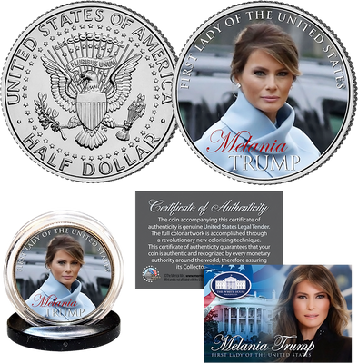 Melania Trump First Lady JFK Half Dollar