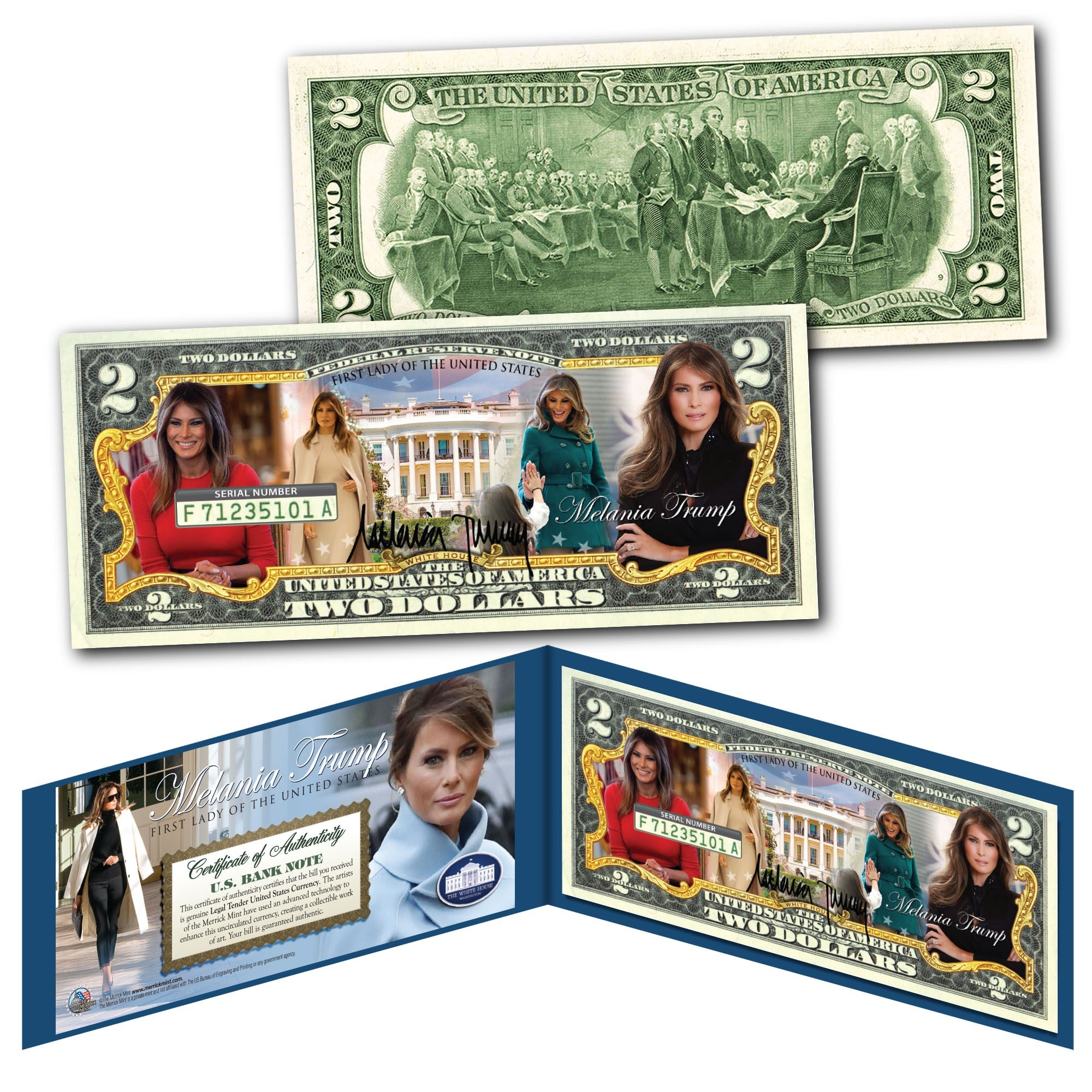 Melania Trump $2 Bill - I Love My Freedom