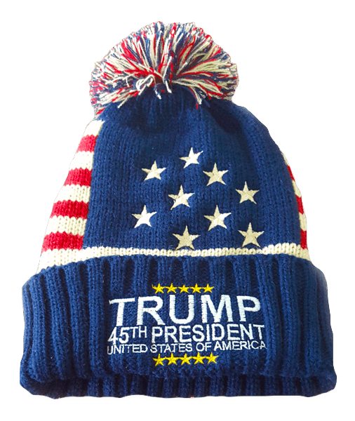 Trump 45th President Winter Beanie - I Love My Freedom