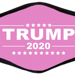 Pink Trump 2020 Face Cover - I Love My Freedom