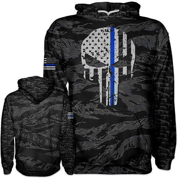 Thin Blue Line Hoodie - I Love My Freedom