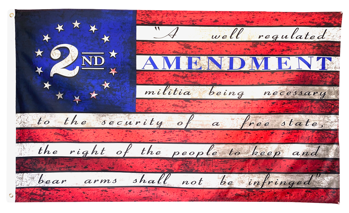 2nd Amendment Flag - I Love My Freedom