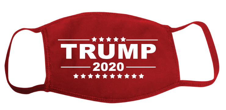Red Trump 2020 Face Cover