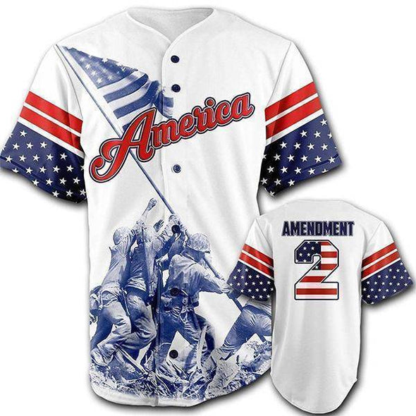 Team America 2nd Amendment Baseball Jersey-Greater Half