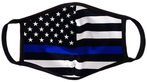 Thin Blue Line Police Face Cover