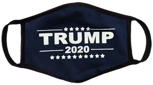 Navy Trump 2020 Face Cover - I Love My Freedom